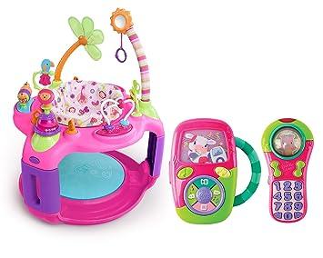 71684e6e4 Amazon.com   Bright Starts Sweet Safari Bounce-a-Round Activity ...