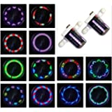 Bike Wheel Lights (2 Tire Pack) - Waterproof LED Bicycle Spoke Lights Safety Tire Lights - Great Gift for Kids Adults…