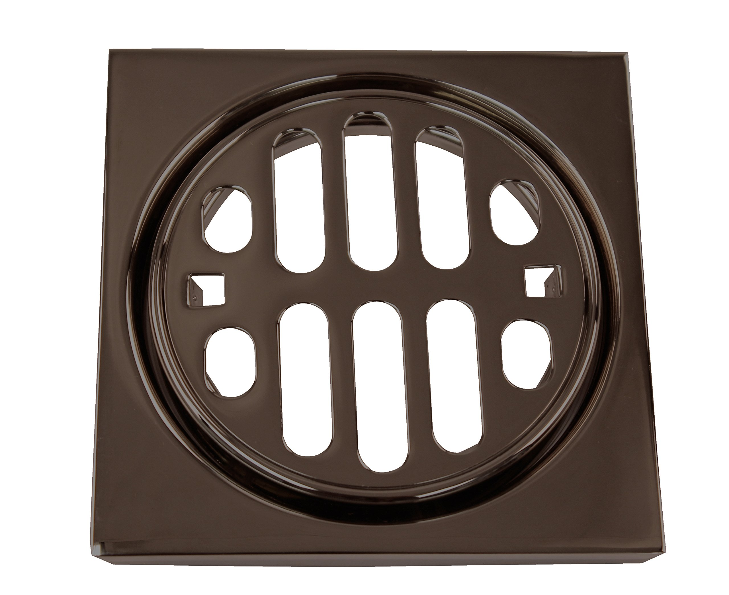 Westbrass Frank Pattern Snap-In Shower Strainer Grill, Square & Crown, Oil Rubbed Bronze, D3171-12