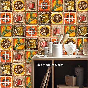 Amazon.de: LJP Italienischen Stil Fliesen Aufkleber Kreative Art ...