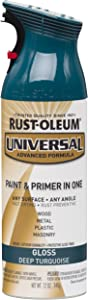 Rust-Oleum 284960 Universal All Surface Spray Paint, 12 oz, Gloss Deep Turquoise