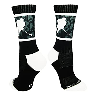 MadSportsStuff Hockey Player Athletic Crew Socks (multiple colors)