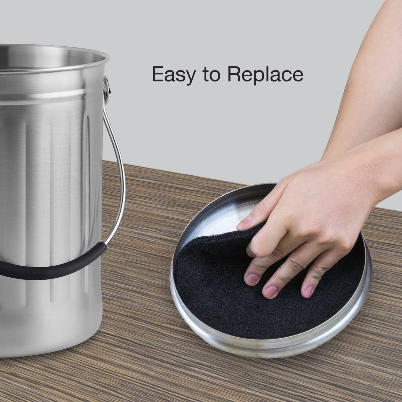 Amazon.com: 12 piezas filtros de carbón activo para compost ...