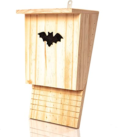 BLIZNIAKI FledermausKasten 9x27x42cm Fledermaushaus aus Holz Nistkaste Fledermauskasten zum Aufh/ängen Unterschlupf f/ür Flederm/äuse Schl/äger Geeignet f/ür Flederm/äus BAT Box BDN1 Opal ZZ