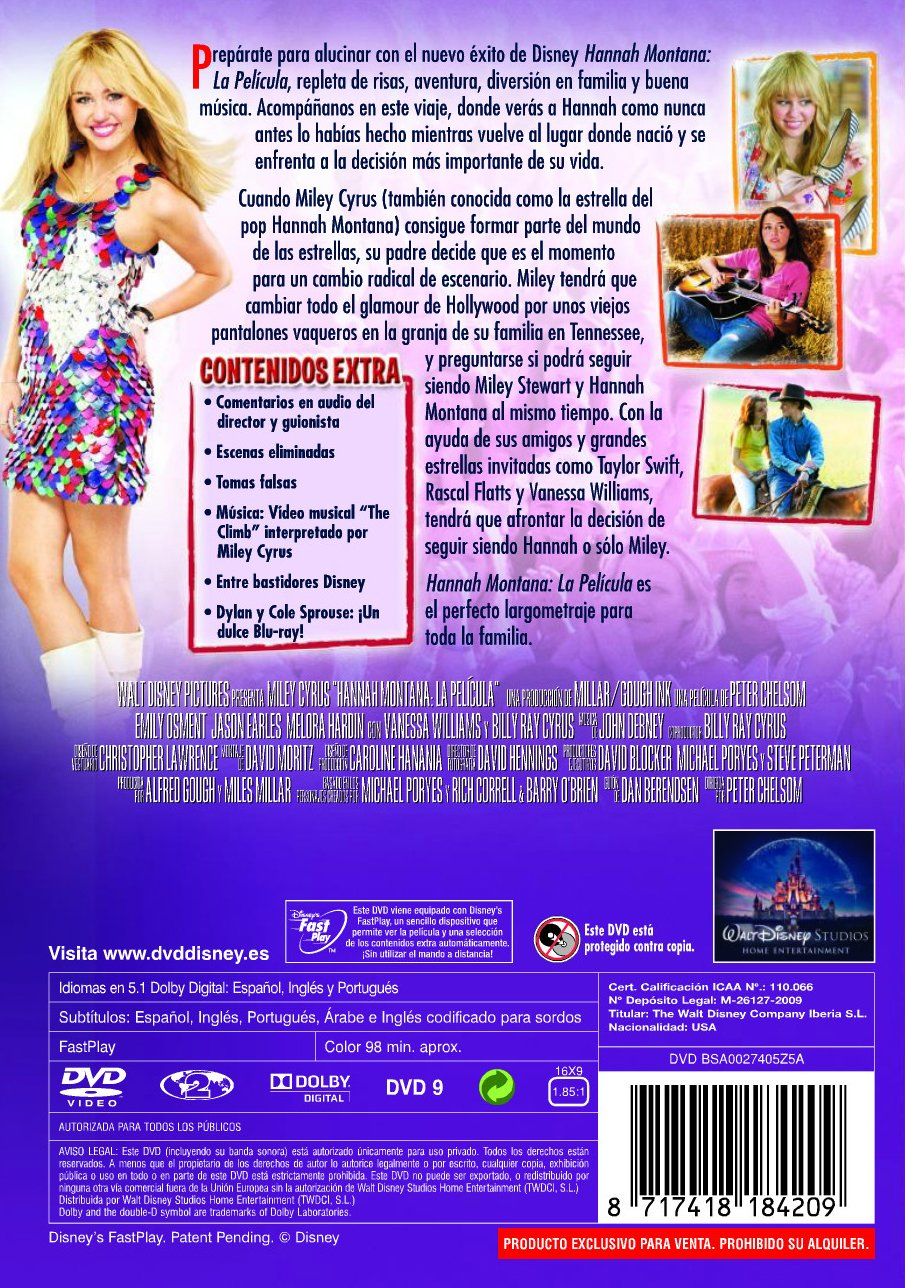 Hannah Montana La Película Dvd Amazon Es Miley Cyrus Taylor Swift Emily Osment Jason Earles Tyra Banks Melora Hardin Peter Chelsom Miley Cyrus Taylor Swift Cine Y Series Tv