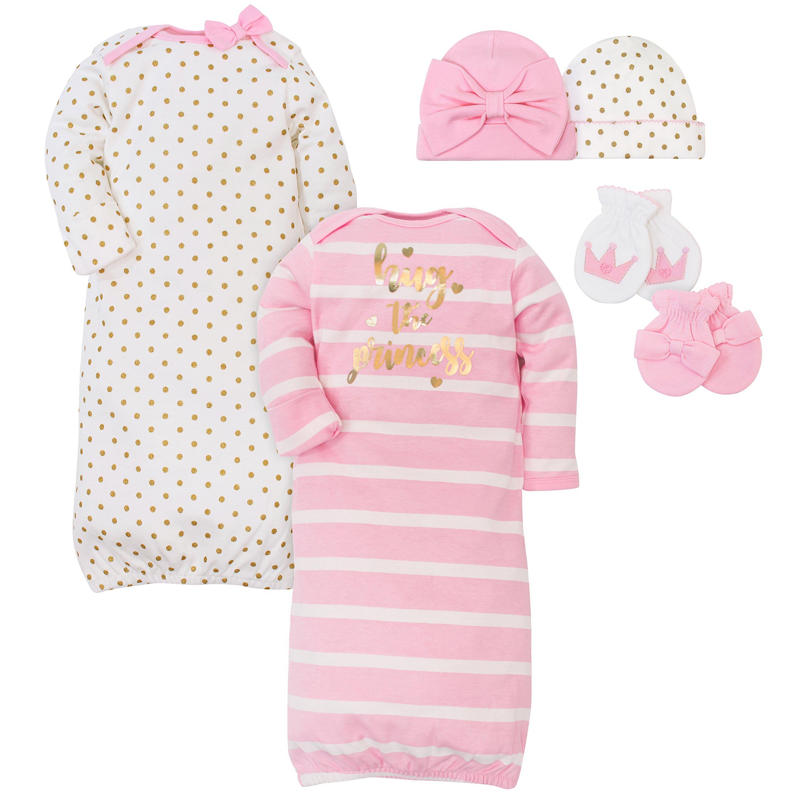 Gerber Baby Girls Layette Bundle, Princess, 0-6 Months