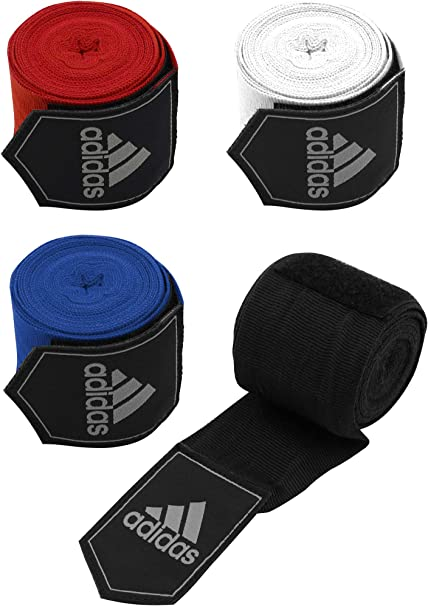 Adidas Cotton Bandages Wrist Hand Wraps Muay Thai Boxing MMA 2.55m Red Colour
