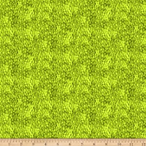 Clothworks Dappled Tonal Green Apple Quilt Fabric By The Yard
