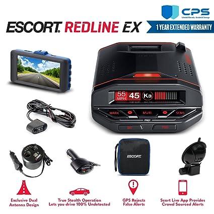 Amazon com: Escort Redline EX Radar Detector 0100030-1 + Smart