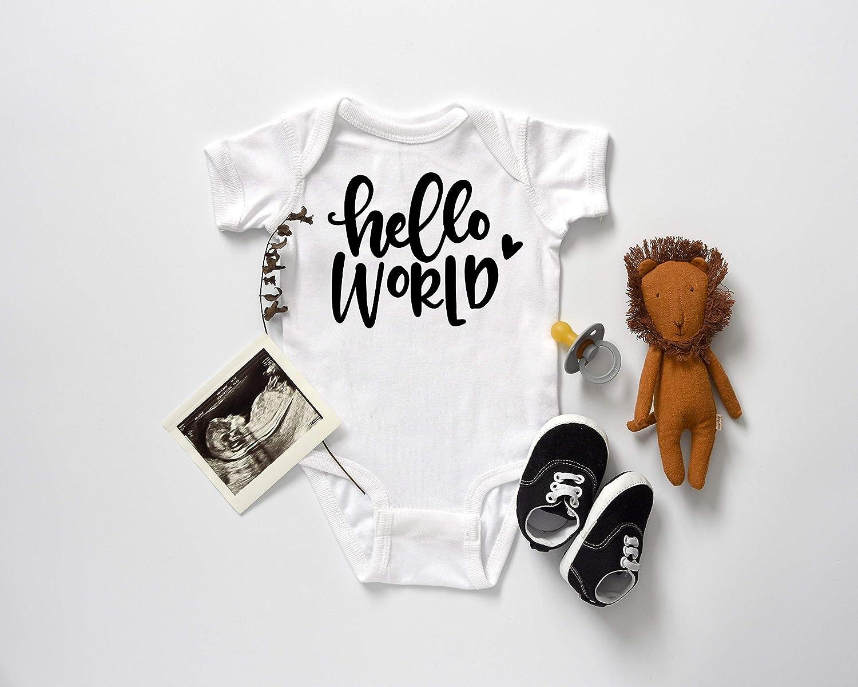YiZYiF 3PCS Newborn Baby Girls Hello World Birthday Flower Ruffles Bodysuits Coming Home Outfit Set