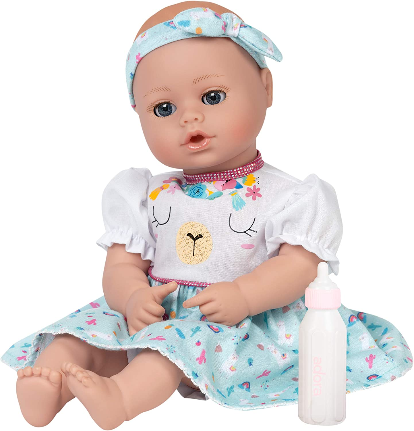 Amazon.com: Adora My First Baby Doll - Playtime Llama Magic, 13 inches,  Open Close Eyes, Can Suck Her Thumb: Toys & Games