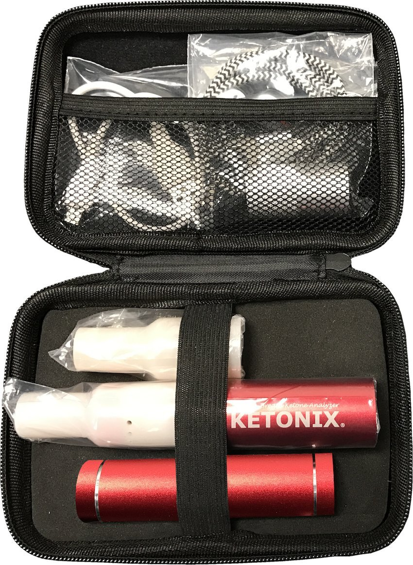 KETONIX RED USB - Battery Pack Included. Reusable Breath Ketone Acetone Level Analyser. Perfect Solution for Anyone adopting a Keto, Paleo or Low Carb Lifestyle.