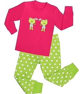 3daf10e95 Amazon.com  Elowel Baby Girls Footed Frog Pajama Sleeper 100% Cotton ...