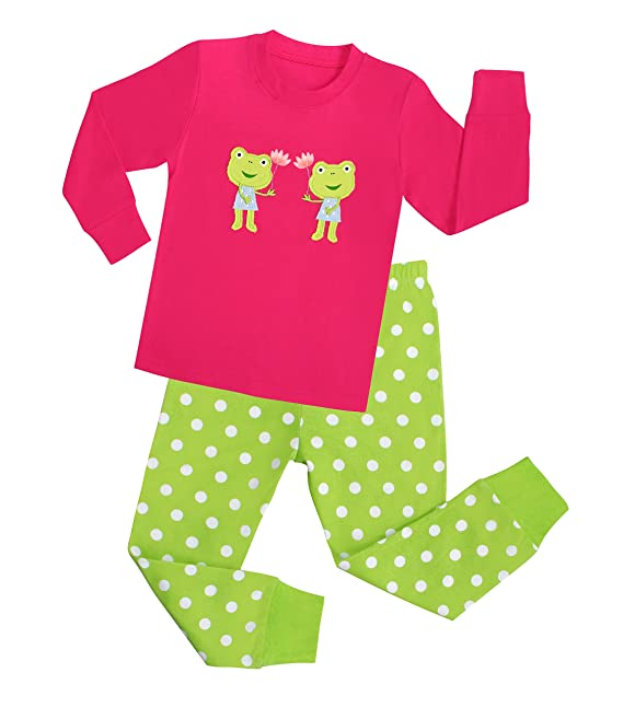 """Babygp dos conjuntos de pijama de """"rana"""" para los niñas de algodón 100"""