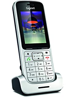 Gigaset SL450HX - Teléfono (Teléfono DECT, 500 entradas, Servicios de Mensajes Cortos (SMS), Negro, Platino): Amazon.es: Electrónica