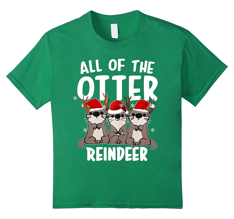 Otter Reindeer tshirt Gift Christmas-Tovacu