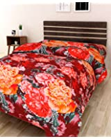 IWS 3D Printed 160 TC Polycotton Single Bedsheet - Floral, Multicolour