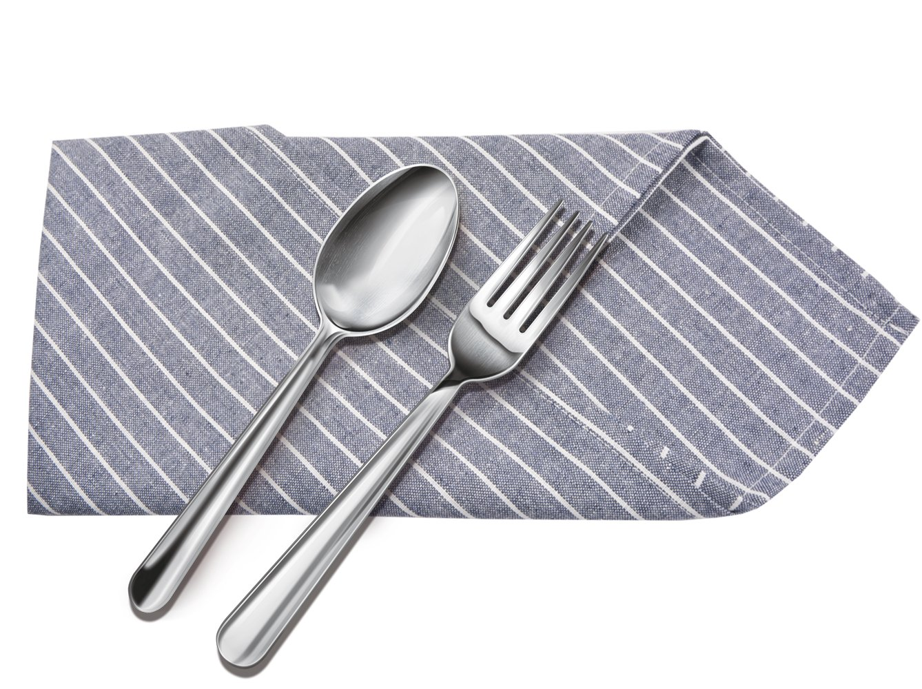 Sinland Linen Napkins Oversized Dinner Napkins Tailored with Mitered Corners and a Generous Hem 20Inch x 20Inch 6 Packs (Grey Blue) by Sinland (Image #7)