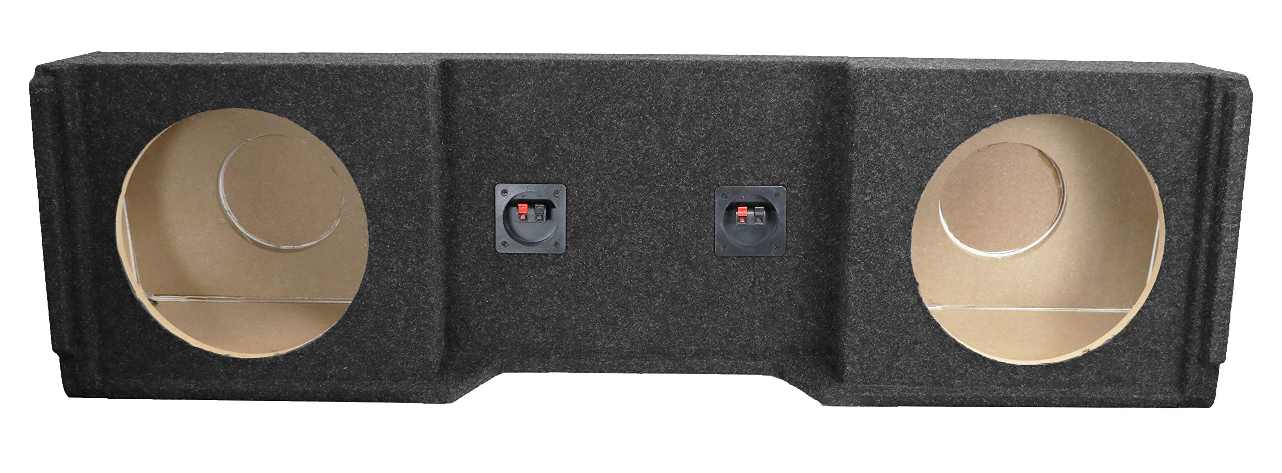 Bbox A152-12CP Dual 12'' Sealed Carpeted Subwoofer Enclosure - Fits 1999-2007 Chevrolet/GMC Silverado/Sierra Extended Cab