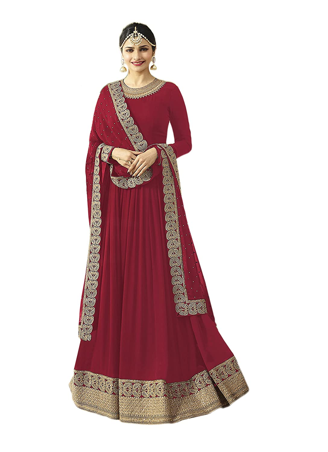 Indian Bollywood Designer Ethnic Wear Anarkali Salwar Kameez Semi-Sttiched A1035 55001035