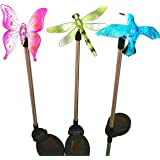 Sogrand Solar Garden Lights Outdoor Decorations Home Decor Stakes Yard Decorative Stake Light Deal of The Day Prime Today Warm White LED Stainless Steel,Landscape Lamp for Outside Patio Lawn 3Pack