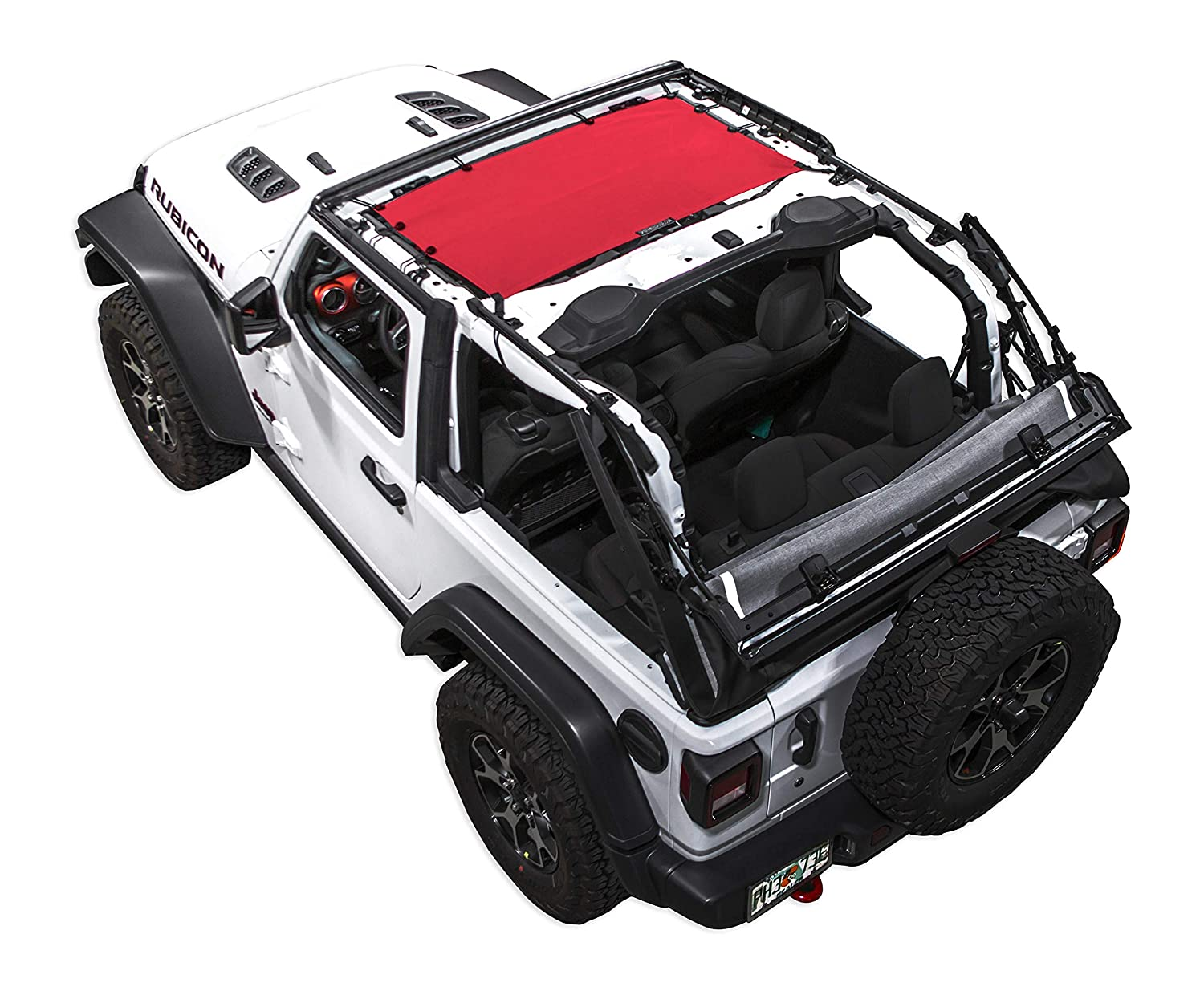 SPIDERWEBSHADE Jeep Wrangler JLKini Mesh Shade Top Sunshade UV Protection Accessory USA Made with 5 Year Warranty for Your JL 2-Door and JLU 4-Door 2018 - current in Blue