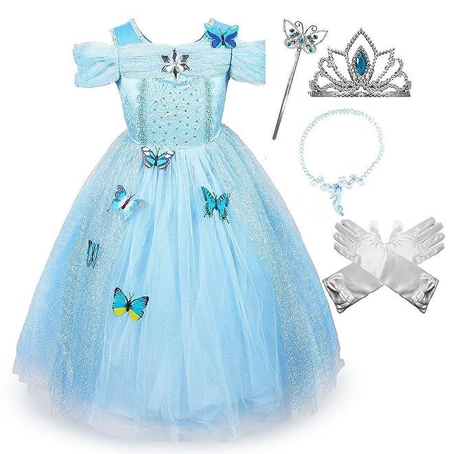 Cinderella Crystal Princess Party Costume Dress with Accessories (3-4)  sc 1 st  Amazon.com & Amazon.com: SweetNicole Cinderella Crystal Princess Party Costume ...