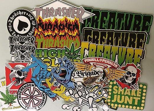 Pack de pegatinas de skate-Powell Peralta Santa Cruz Skateboards ...