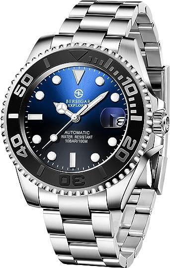 BERSIGAR Automatic Divers Watches Reloj analógico automático ...