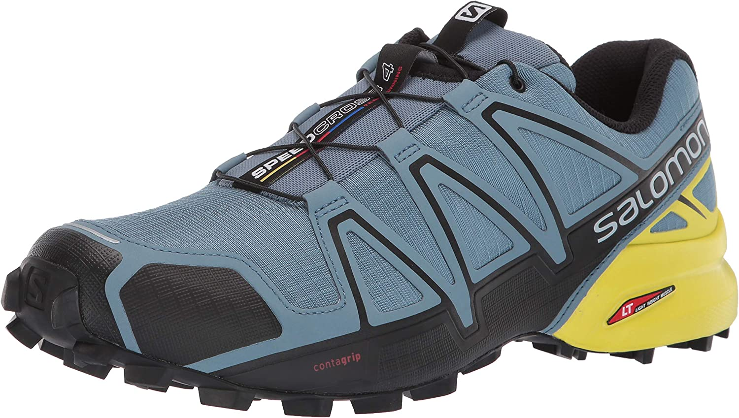 Salomon Men s Speedcross 4 Trail Running Shoes, Bluestone Black Sulphur Spring, 8.5 US