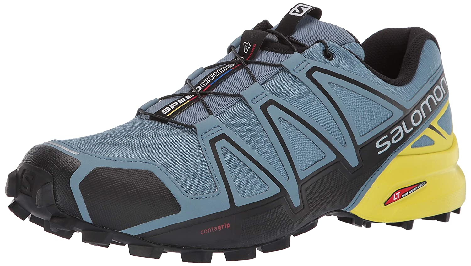 Salomon Men s Speedcross 4 Trail Running Shoes, Bluestone Black Sulphur Spring, 12 US