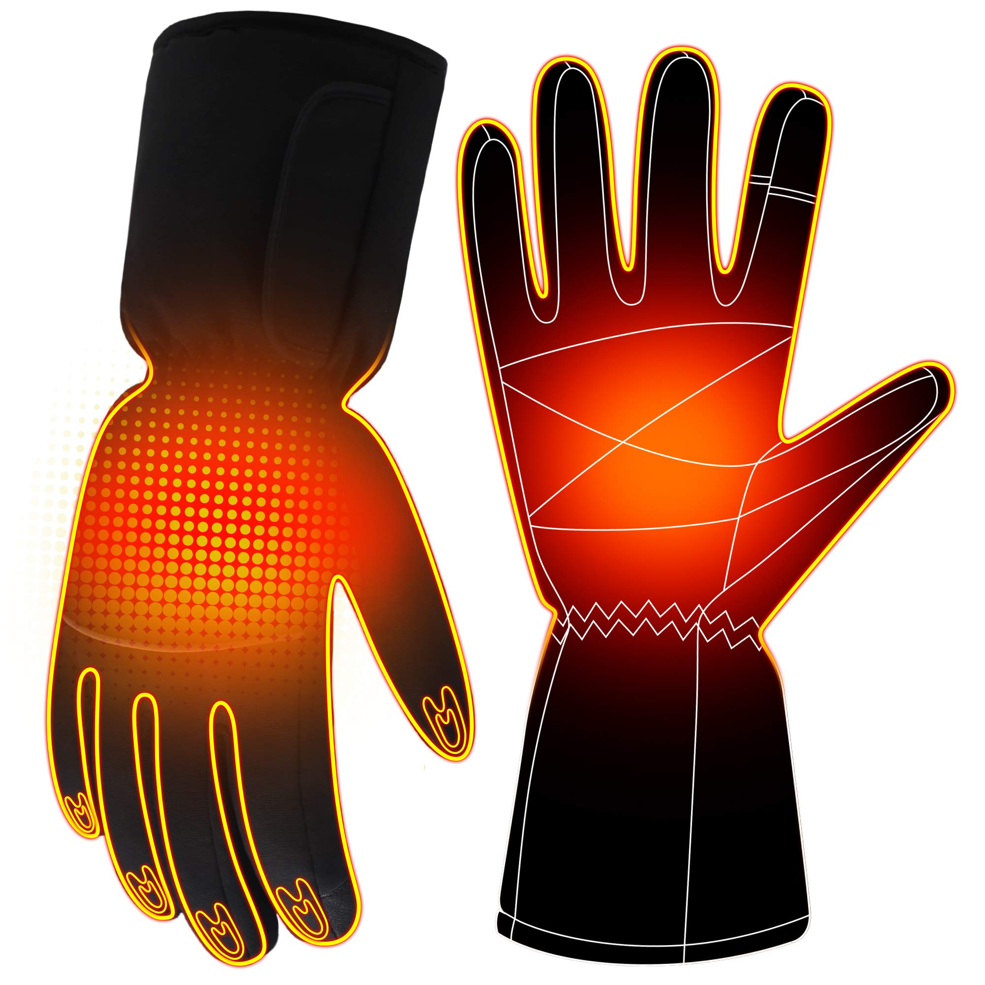 Autocastle Men Women Electric Heated GlovesTouchscreen Heating Gloves,Heat Insulated Thermal Gloves for Climbing Hiking Skiing,3 Heat,Hand Warmer,Black (2200mAh Li-ion Battery) by Autocastle
