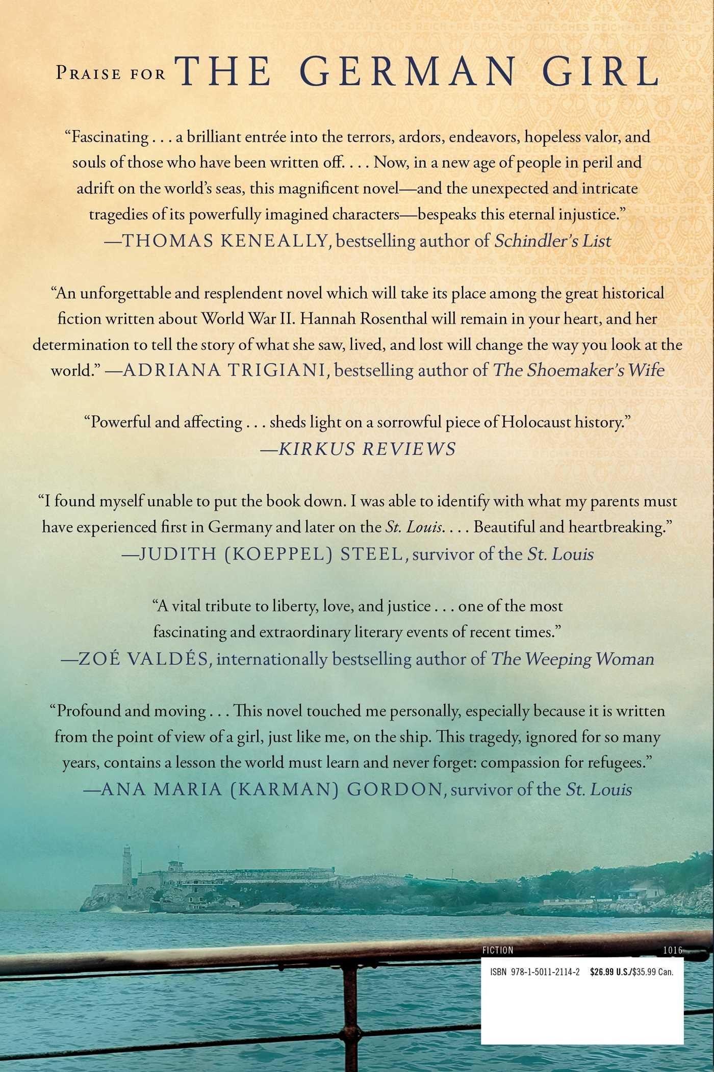 The German Girl: A Novel: Armando Lucas Correa: 9781501121142: Amazon:  Books
