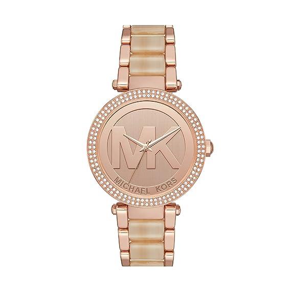 Michael Kors Reloj Analogico para Mujer de Cuarzo con Correa en Acero Inoxidable MK6530: Amazon.es: Relojes