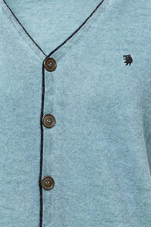 Cotton Belt Cardigan , Color: Turquoise