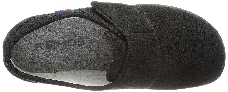 Rohde Bad Wiessee Unisex-Erwachsene Flache Hausschuhe Schwarz (90 (90 Schwarz Schwarz) 20afcd