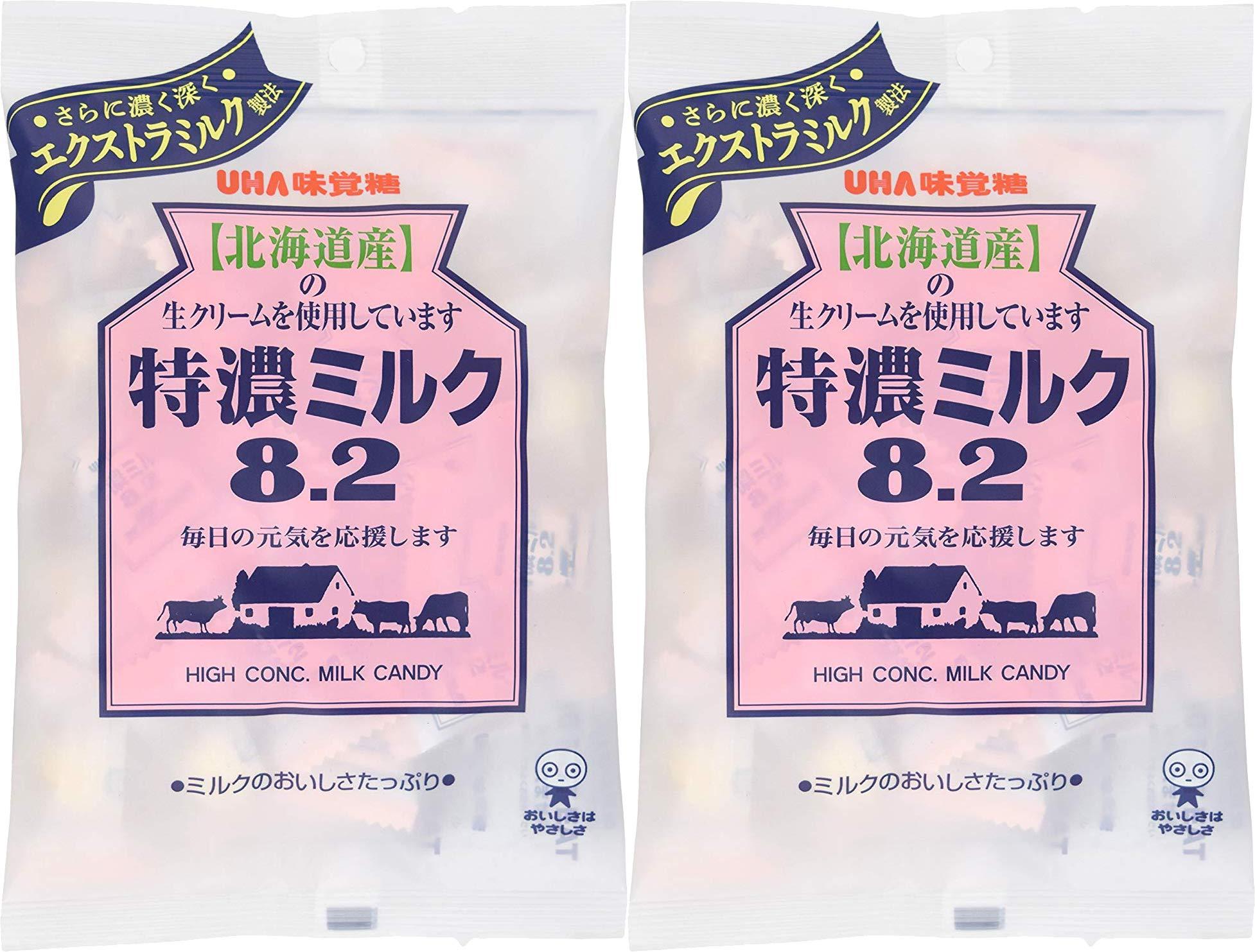 Mikakuto Tokuno Milk 8.2 Candy 3.7oz (2 Pack) by UHA Mikakutou