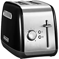 KitchenAid Classic 5KMT2115BOB 1200-Watt 2 Slice Pop-Up Toaster (Black)