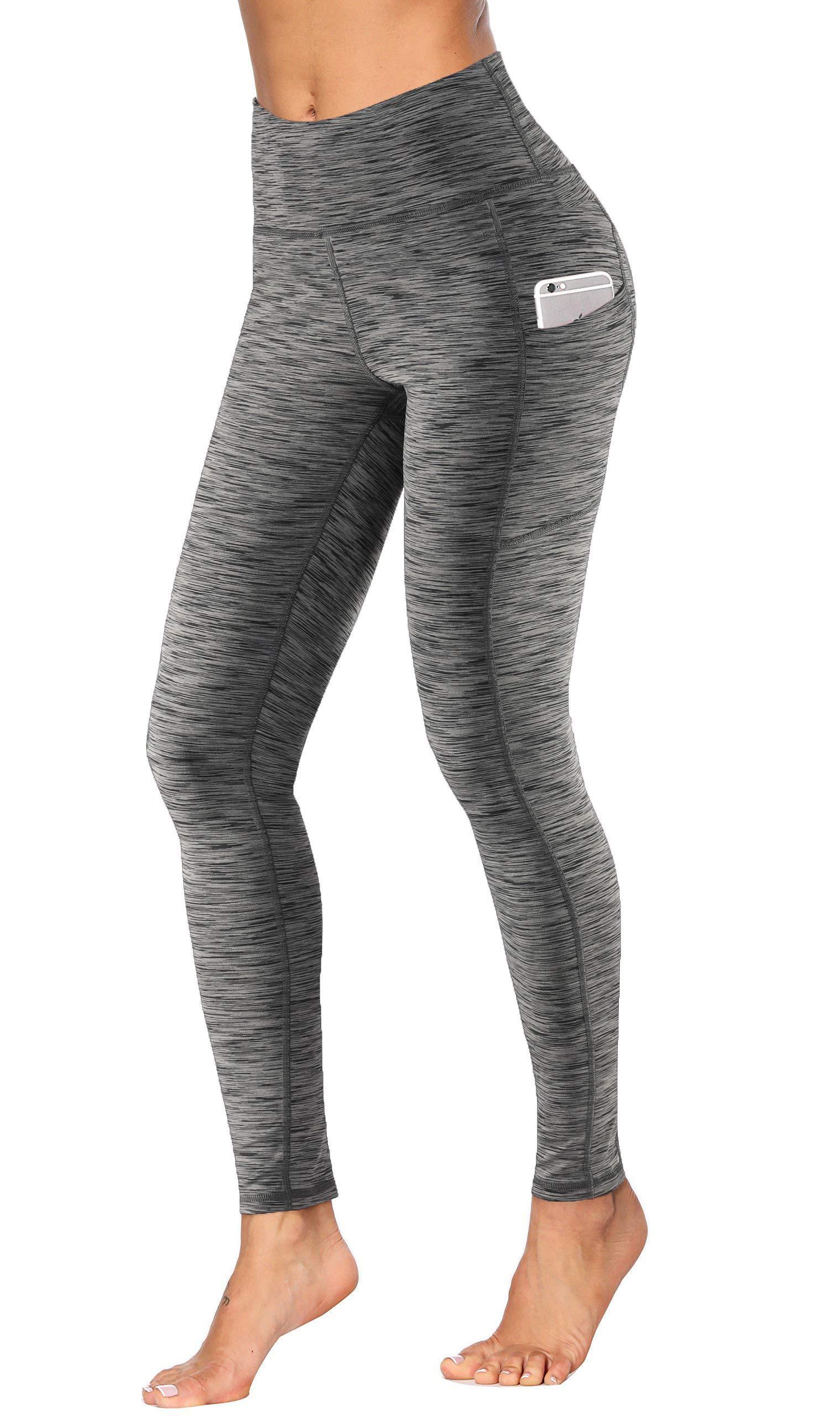 Fengbay High Waist Yoga Pants, Pocket Yoga Pants Tummy Control Workout Running 4 Way Stretch Yoga Leggings by Fengbay