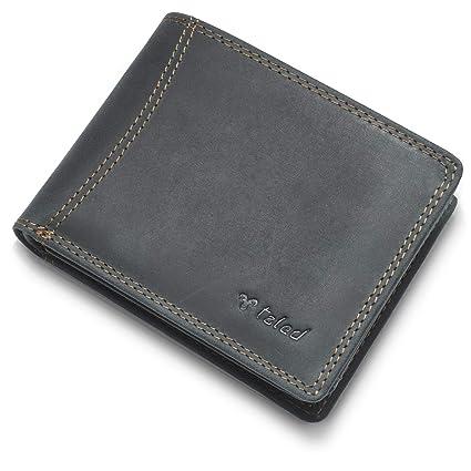 Monedero de león TALED hecho de piel de búfalo de alta calidad con protección RFID - Monedero billetera - Hecho en Alemania