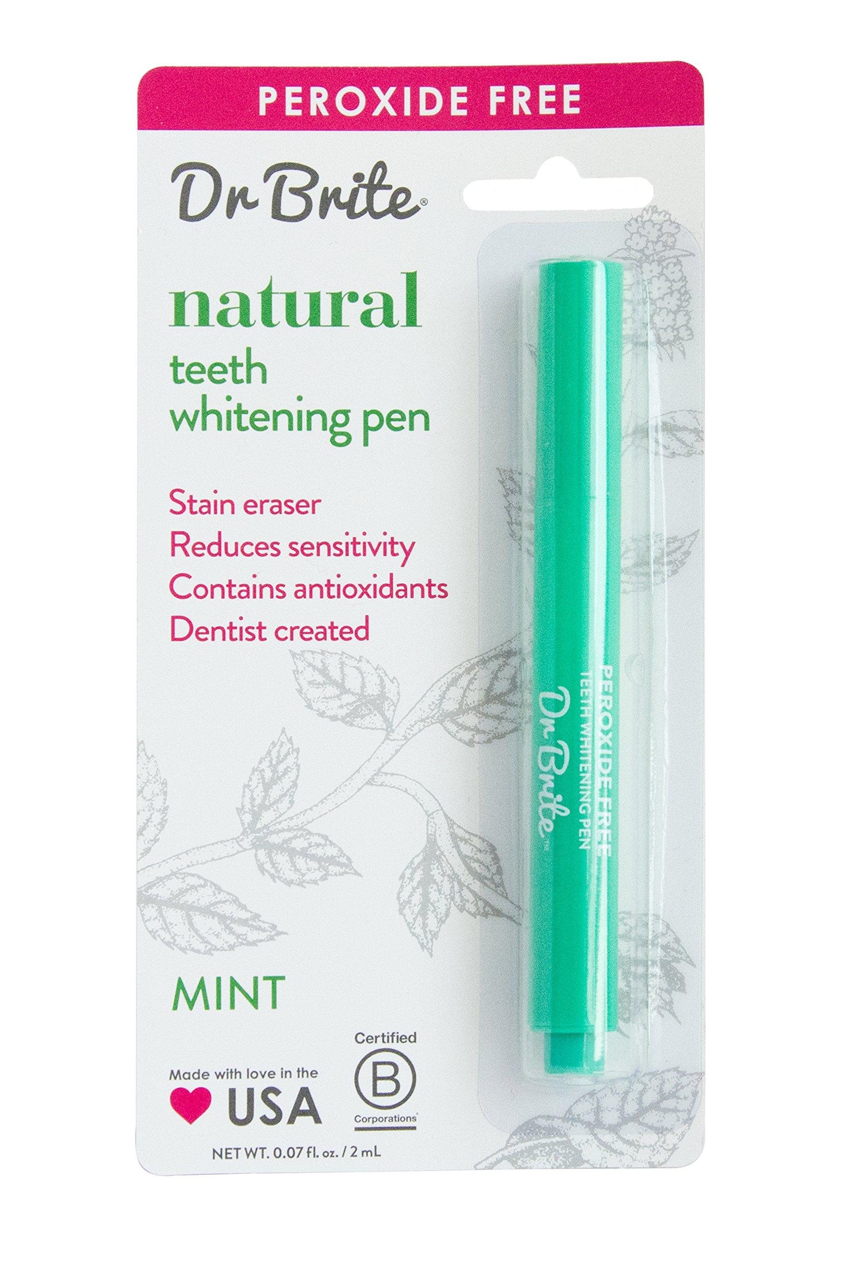 Dr. Brite Peroxide Free Teeth Whitening Pen, Mint, 0.067 Fluid Ounce