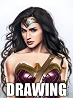 Time Lapse Drawing of Wonder Woman