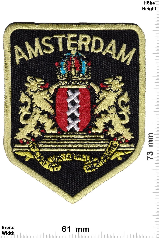 Patch - Amsterdam - Wappen - Lä nder Patch - Aufnä her Embleme Bü gelbild Aufbü gler