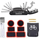 Bike Repair Kit,iBuger Bicycle 16 in 1 Multifunctional Cycling Repair Tools and Quick Puncture Tire Repair Kits for Cyclist