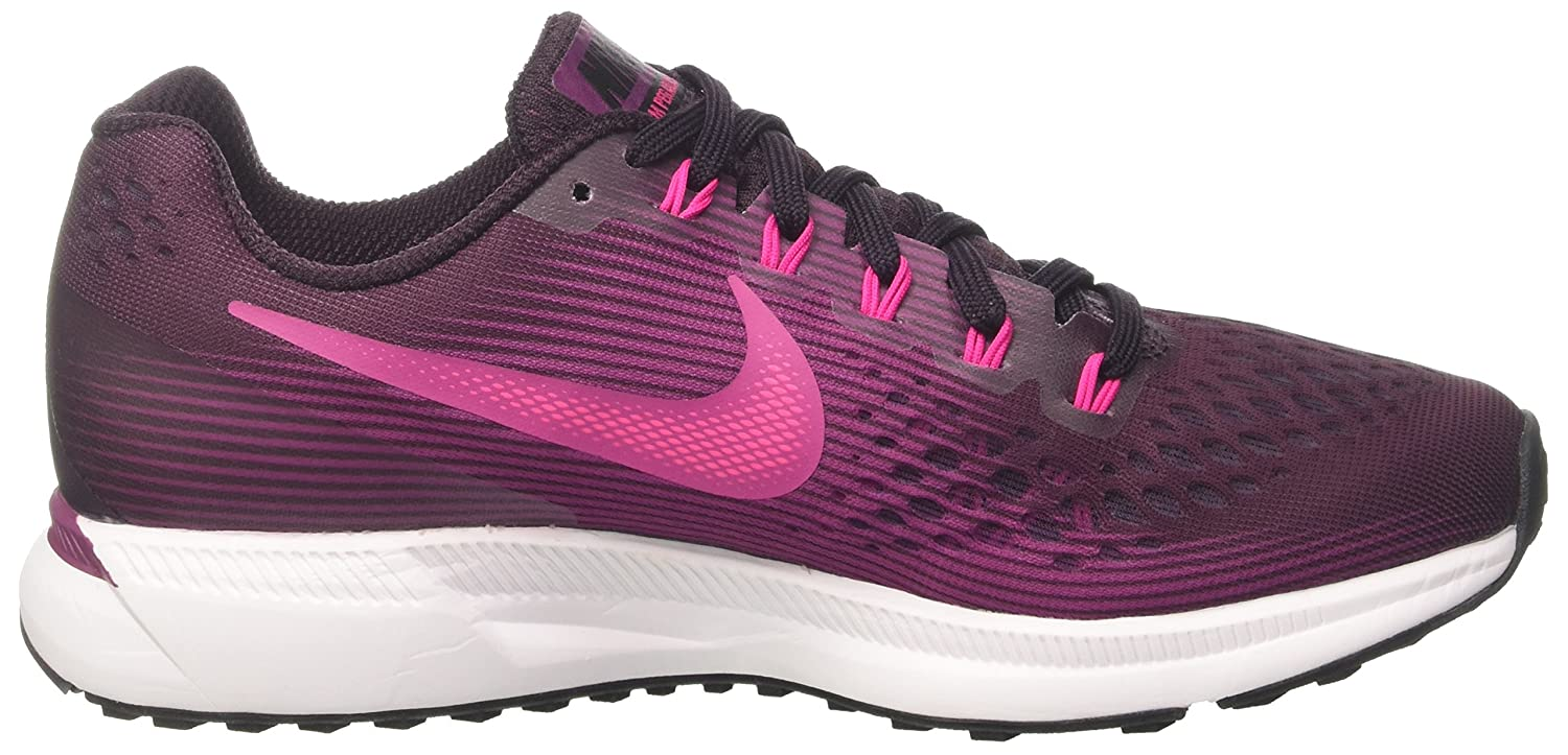 Amazon.com | Nike Womens Air Zoom Pegasus 34 Running Shoe Port Wine/Deadly Pink-Tea Berry-Black 9.5 | Road Running
