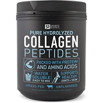 Sports Research Premium Collagen Peptides - Best Collagen Booster Supplement