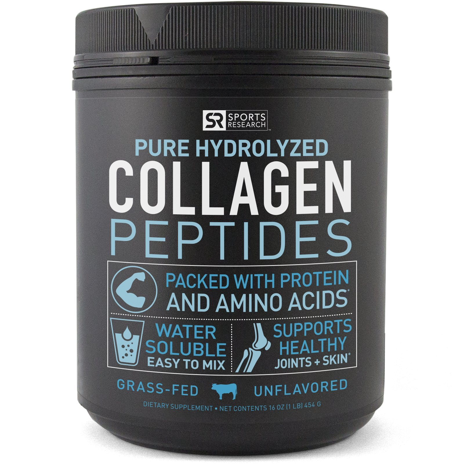 Premium Collagen Peptides | Grass-Fed, Certified Paleo Friendly, Non-Gmo and Gluten Free - Unflavored and Easy to Mix (16oz Bottle)