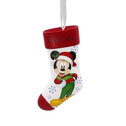 hallmark diy personalized christmas ornament disney mickey mouse stocking - Mickey Mouse Christmas Stocking