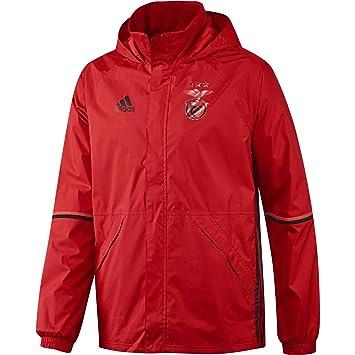adidas Benfica FC Rain P Chaqueta, Hombre, Rojo/Negro, L: Amazon.es: Deportes y aire libre