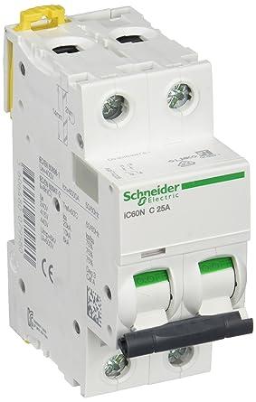 2P C Curve Miniature Circuit ... Schneider Electric A9F44225 Acti 9 IC60N 25a